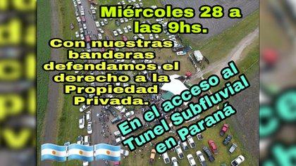 Mañana el reclamo es en Paraná