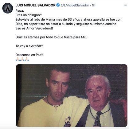 """(Foto: Captura de pantalla / Twitter @LMiguelSalvador"""""""