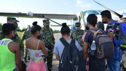 Cinco menores de edad fueron rescatados en El Bagre (Antioquia) tras haber sido reclutados de manera forzada por el ELN en mayo.