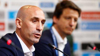 Rubiales anunció la salida de Lopetegui en una conferencia de prensa en la ciudad rusa Krasnodar (Reuters)