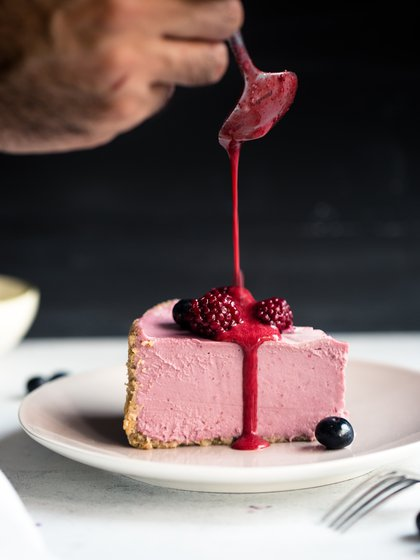 Torta de frambuesa, ideal para un postre o merienda