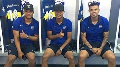Frank Fabra, WIlmer Barrios, Edwin Cardona