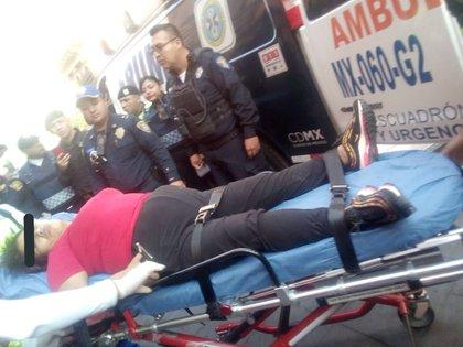Una de las lesionadas que fue trasladada al Hospital Balbuena (Foto: Twitter)