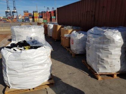 Residuos biológicos en Lázaro Cárdenas, Michoacán. Foto: twitter @PROFEPA_Mx