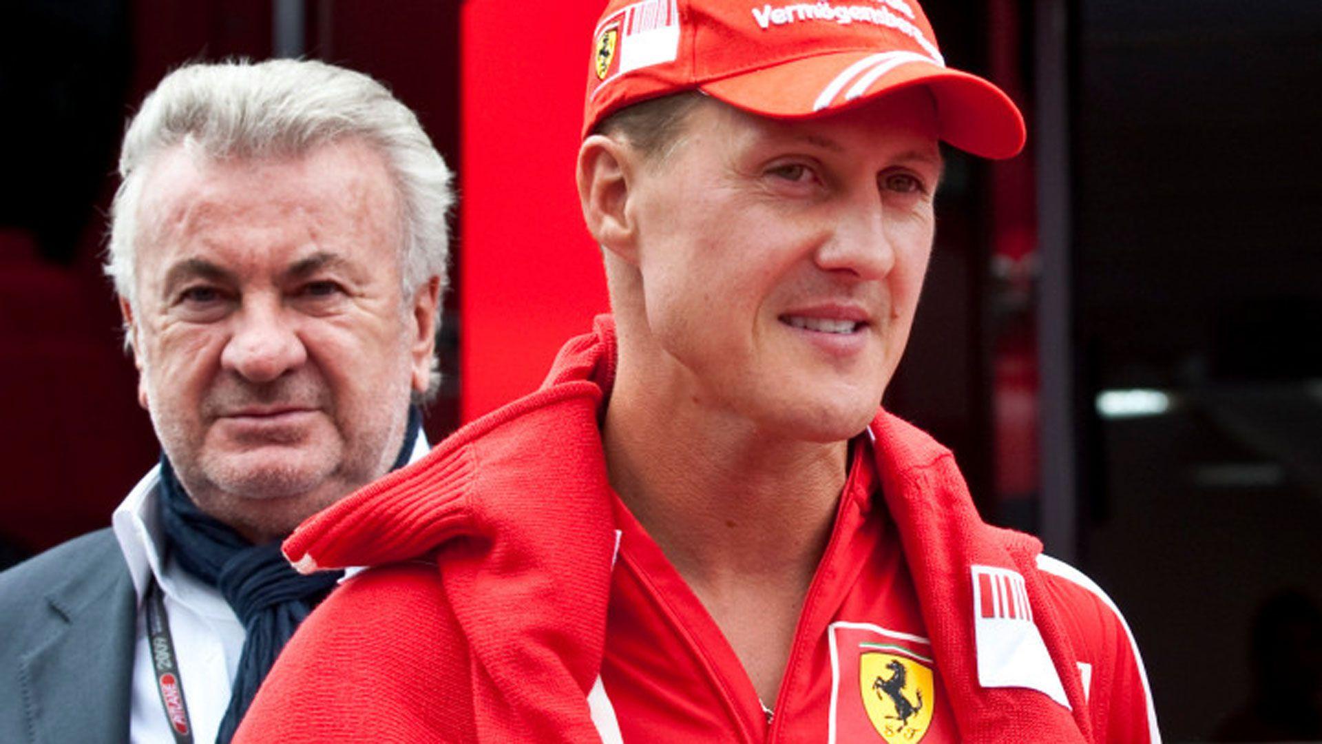 Willi Weber y Michael Schumacher (AP)