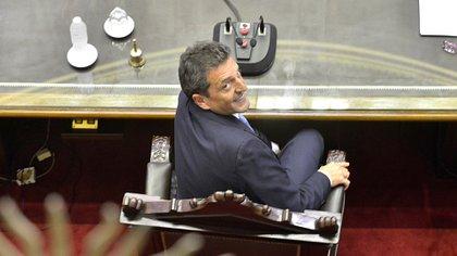 Sergio Massa crece desde su sillón de la Cámara de Diputados (Gustavo Gavotti)