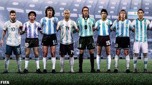 La FIFA eligió a los 16 íconos de la selección argentina y generó polémica