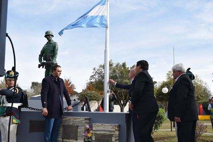 El monumento que recuerda al héroe en san Agustín