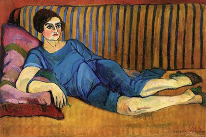 """""""Mujer recostada en un sofá"""", de Suzanne Valadon"""