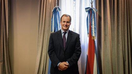 El gobernador entrerriano Gustavo Bordet (PJ) (Julieta Ferrario).