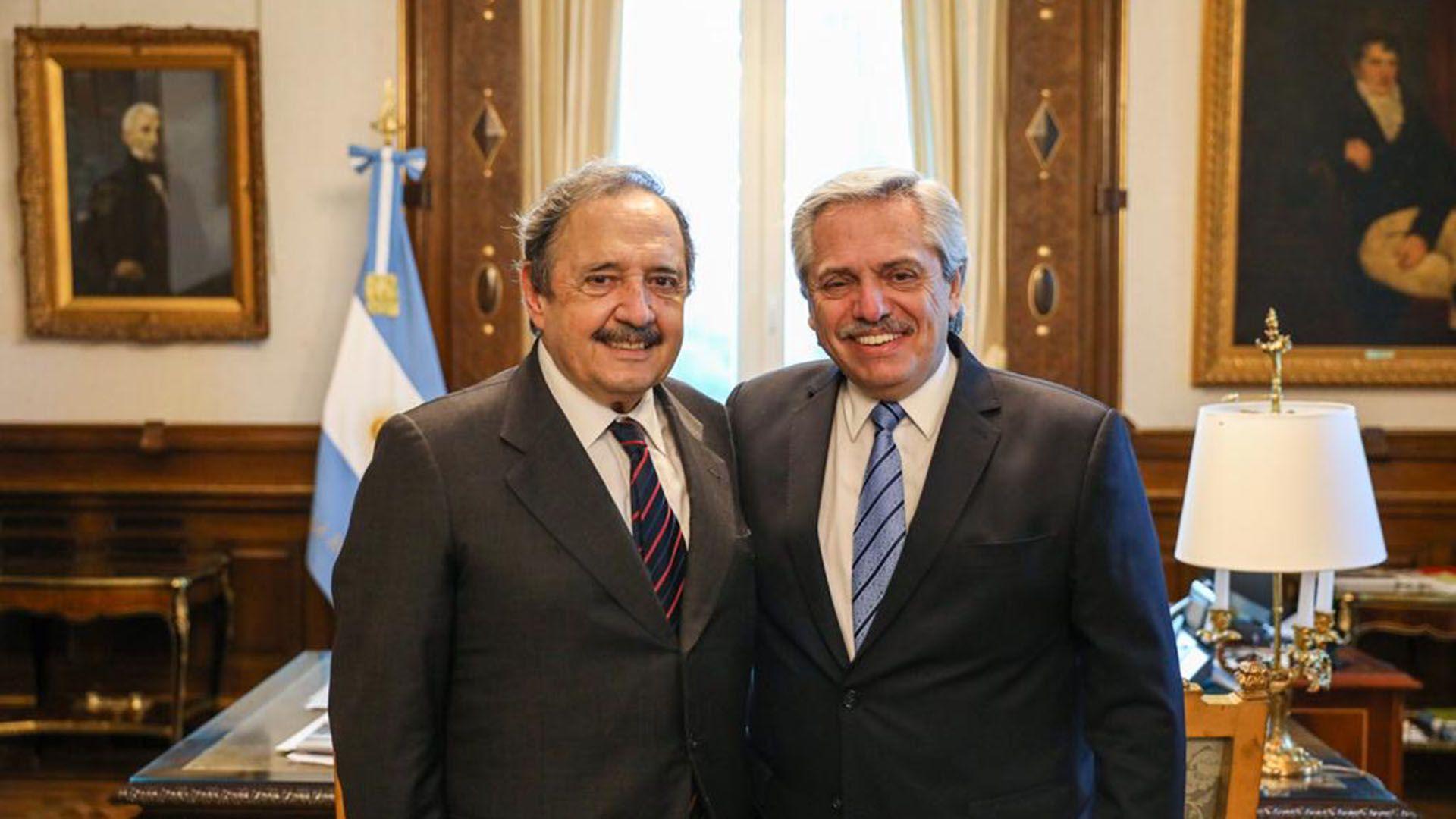 Ricardo Alfonsín y Alberto Fernández