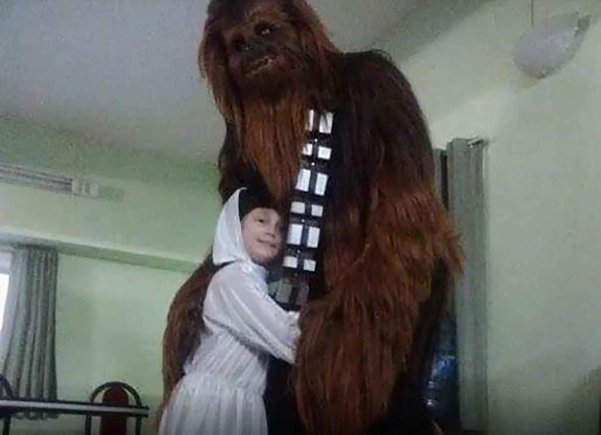 "Guada junto a ""Chewie"" Dogliani"