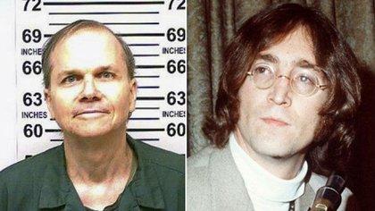 Mark David Chapman in una fotografia ufficiale scattata quest'anno. A la sua parte, la sua vittima: John Lennon, assassinata l'8 dicembre 1981 a New York (AP)