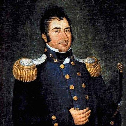 Hipólito Bouchard, retratado por José Gil de Castro