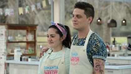 """Damián y Samanta, en la gran final de """"Bake Off"""" (Foto: prensa Telefe)"""