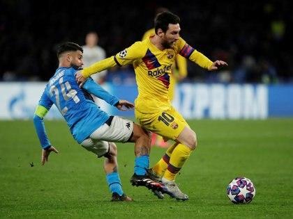 El Barcelona empató 1-1 con Napoli en el partido de ida