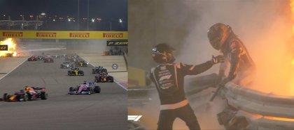 29/11/2020 El piloto Romain Grosjean, fuera de peligro tras sufrir un gravísimo accidente en el Gran Premio de Bahréin ORIENTE PRÓXIMO ASIA DEPORTES BAHRéIN FÓRMULA 1