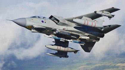 La fuerza aérea británico utilizó los jets Tornado