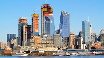 Una foto durante la construcción de los edificios (Grosby)