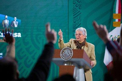 """Sánchez Cordero fue la única ministra en la resolución de exoneración del """"Góber Precioso"""" en 2007 (Foto: Presidencia de México)"""