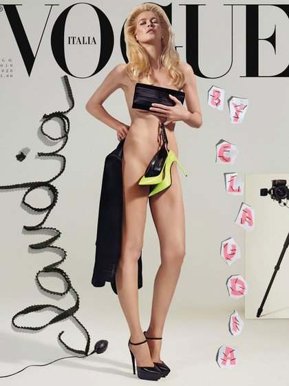 Schiffer en Vogue Italia (IG: claudiaschiffer)