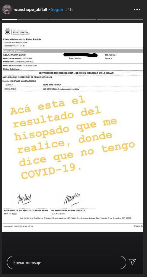wanchope ábila instagram coronavirus 1