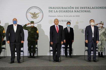 El Presidente de México, Andrés Manuel López Obrador, inauguró ayer el cuartel de la Guardia Nacional en Jalisco (Foto: Cortesía)