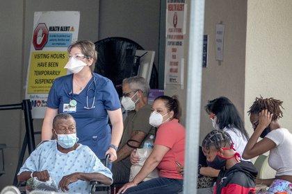 Pacientes de covid-19 en Florida (EFE)