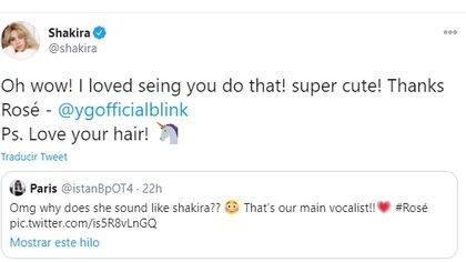 El mensaje de Shakira