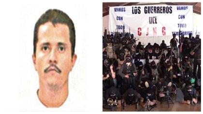 """""""El Mencho"""" (izquierda), el líder del Cártel Jalisco Nueva Generación sigue prófugo de la justicia mexicana (Foto: Especial)"""