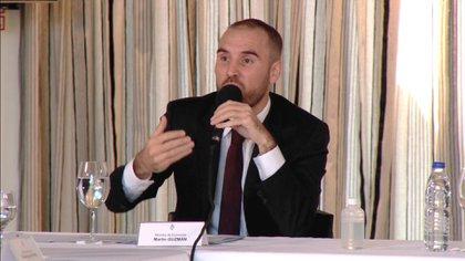 Martín Guzmán, el jueves pasado luego de anunciar la oferta del Gobierno para renegociar la deuda