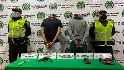 Captura de atracadores en Floridablanca, Santander. Foto: Policía Nacional de Colombia.