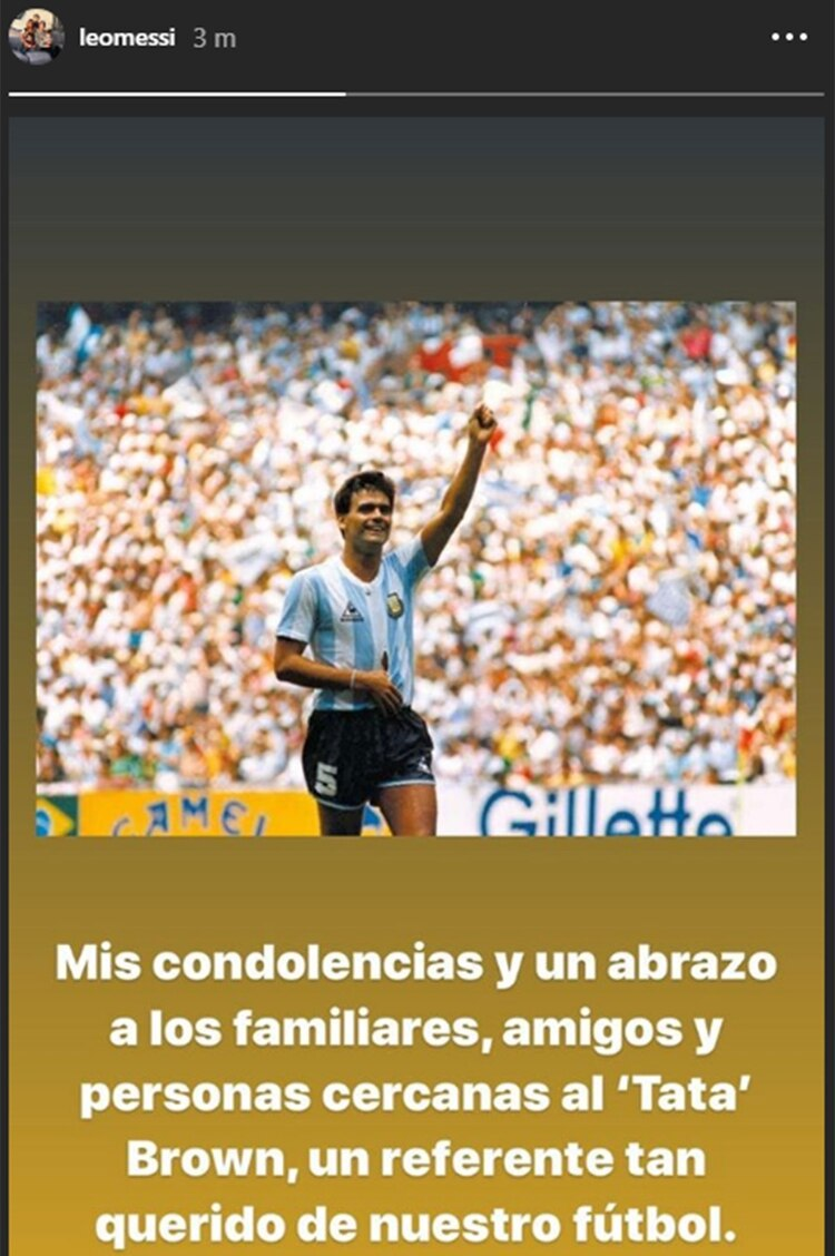 La publicación de Messi en su cuenta de Instagram