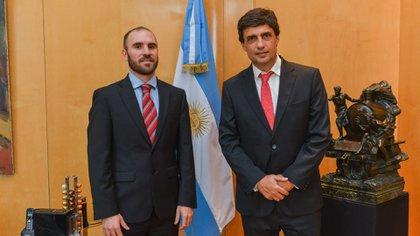 Hernán Lacunza y Martín Guzmán, en diciembre pasado