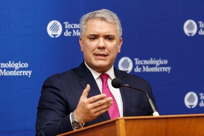 El presidente de Colombia, Iván Duque. EFE/José Méndez/Archivo