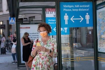 Las autoridades suecas implementarán medidas más duras para contener el aumento de casos de coronavirus (Stina Stjernkvist / Agencia de noticias TT / vía REUTERS)