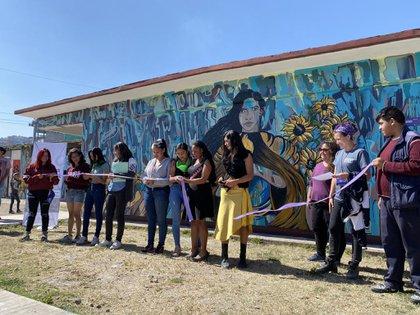 "Inauguraron un mural llamado ""Mujer Guerrera"" (Foto: Twitter Iniciativa Spotlight)"