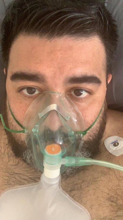 Andrés Valenzuela estuvo internado 23 días en el Hospital Durand