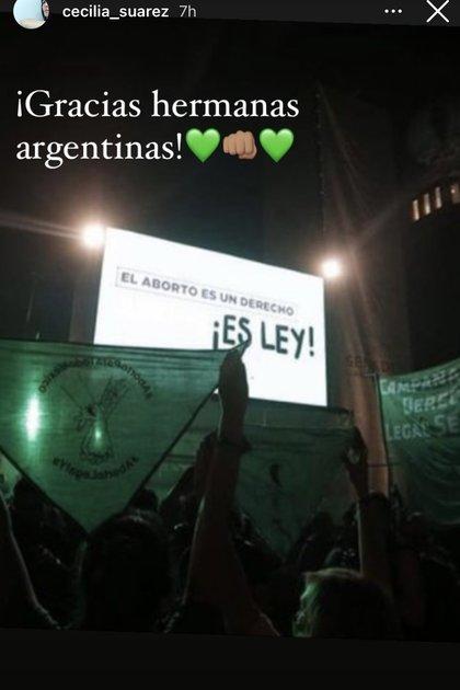 Cecilia Suárez vía Instagram (@cecilia_suarez)