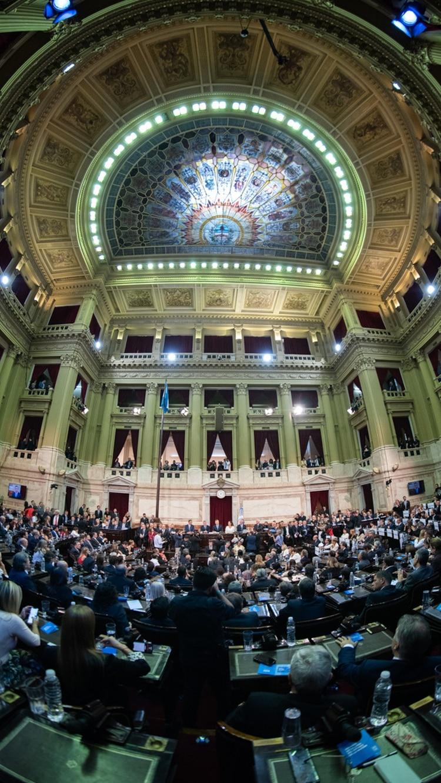 La Asamblea en pleno (Crédito foto: Adrián Escandar)