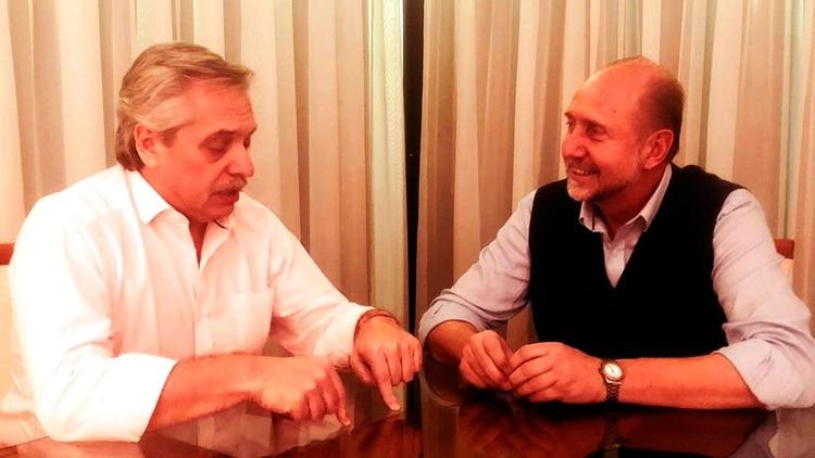Fernández y Perotti cenaron juntos. El gobernador electo apoya al candidato presidencial