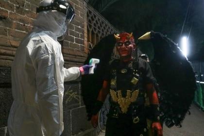Personal de la alcaldía tomaron precauciones y monitorearon la salud de los actores en todo momento FOTO: GRACIELA LÓPEZ /CUARTOSCURO