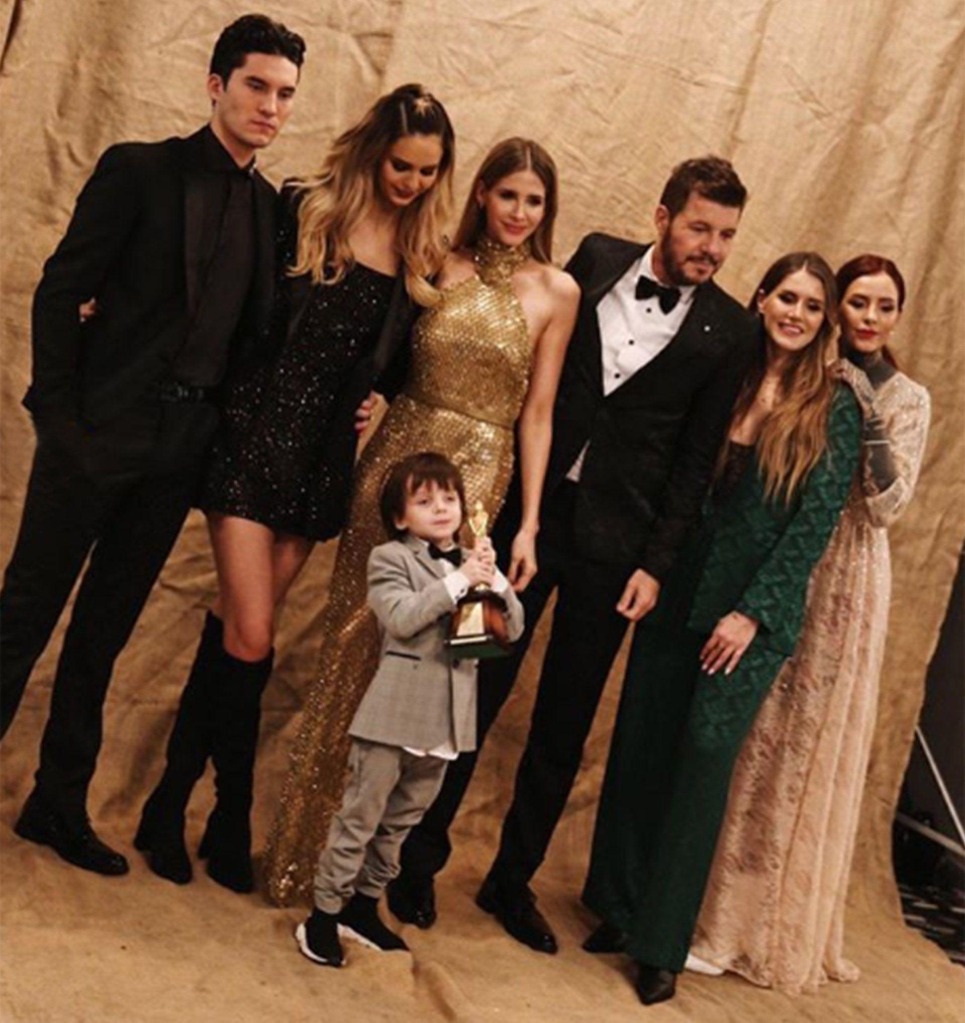 La familia completa acompañó a Marcelo a los Premios Martín Fierro 2019, donde fue homenajeado