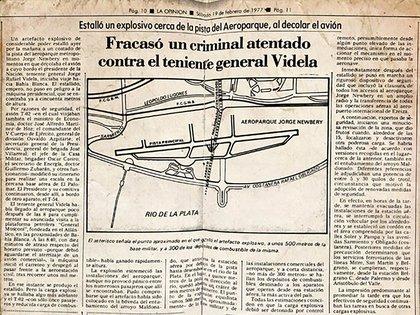 Los titulares de los diarios con el atentado guerrillero