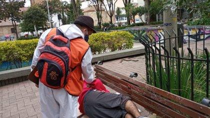 Habitantes de calle en Bogotá. Foto: Idiprón.