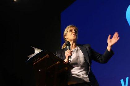 """La fundadora del partido """"Valores para mi País"""", Cynthia Hotton"""