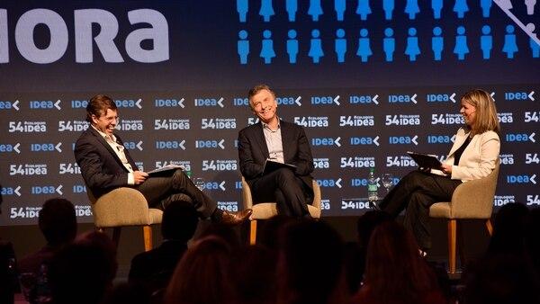 Macri, en el panel final del evento (IDEA)