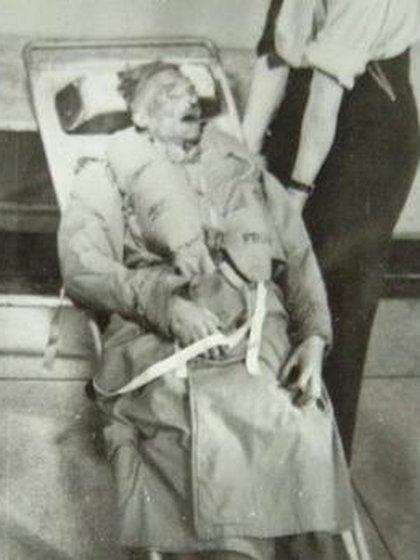El cuerpo de William Martin tal como fue encontrado en la playa de Punta Umbría