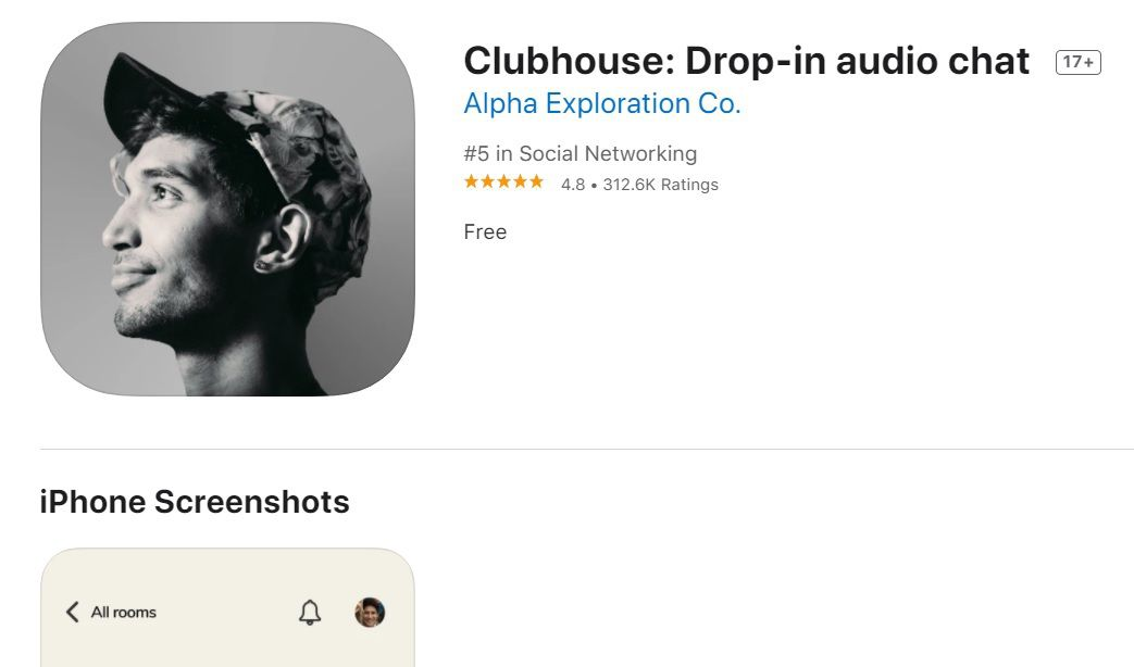 Clubhouse en la App Store