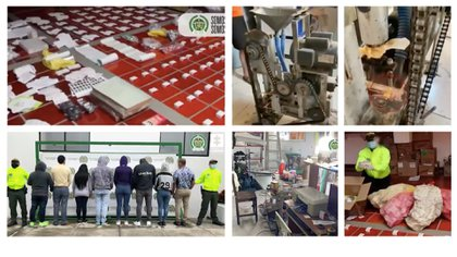 10 personas fueron capturadas por presuntamente falsificar y comercializar medicamentos en Girón, Santander
